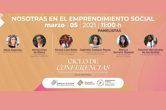 Organiza Economía panel Nosotras en el Emprendimiento Social