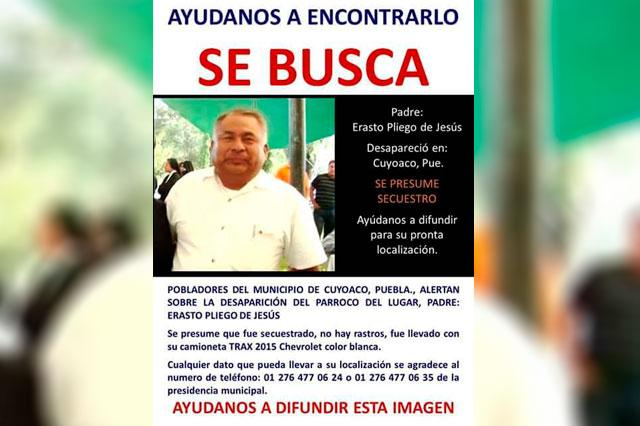 Sospechan robo en desaparición de sacerdote de Cuyoaco