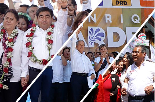 A 7 días de elección arman cierres Barbosa, Cárdenas y Jiménez