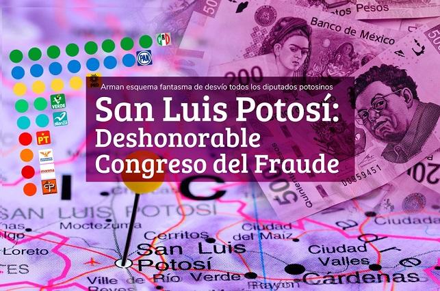Congreso de San Luis diseñó red de empresas fantasma para desviar recursos