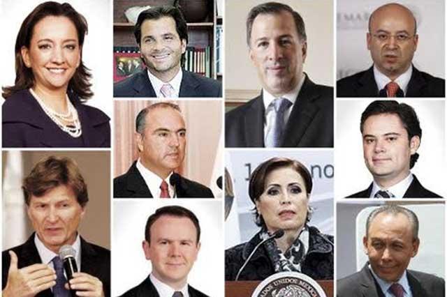 Diez notables del PRI se apuntan para las presidenciales de 2018