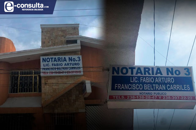 Suspenden funciones de notario auxiliar de Tehuacán