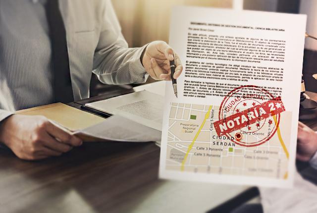 Para el Colegio de Notarios no hay cambio en la notaría 2 de Serdán