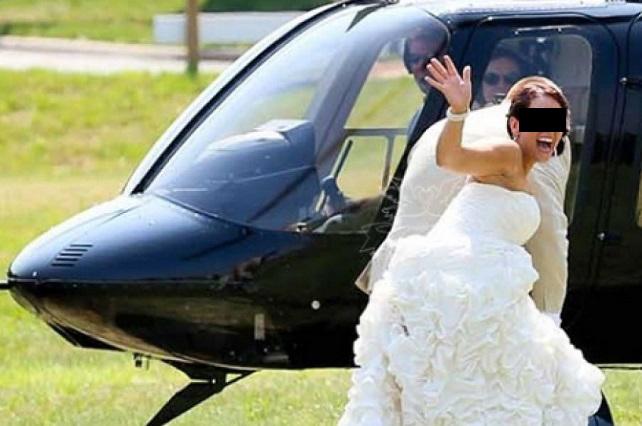 Video: Helicóptero se estrella con novia abordo y ella logra llegar a su boda