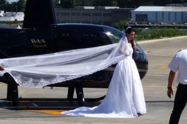 Muere novia al cumplir su sueño de llegar a su boda en helicóptero