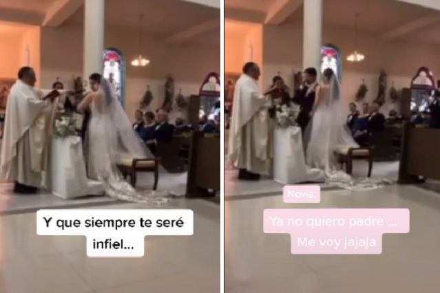 En el altar, nervioso novio le dice a su pareja que siempre le será infiel