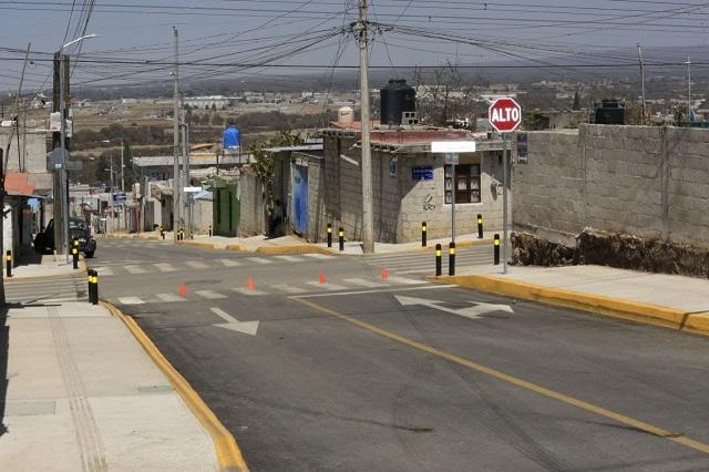 Ayuntamiento de Puebla construye calles en beneficio de más de 2 mil 500 familias