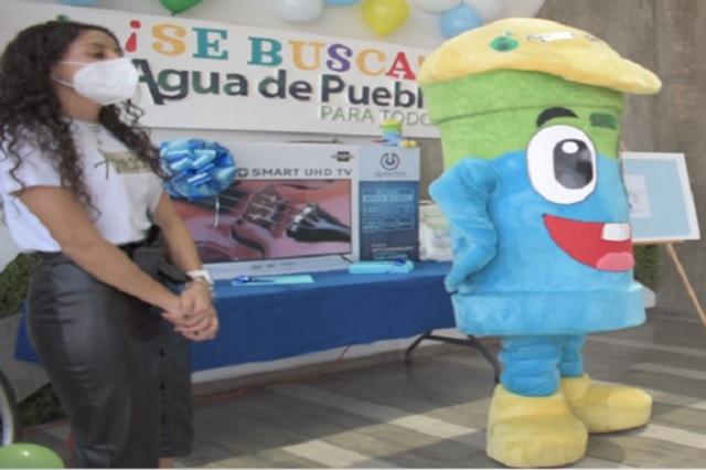 Gotitrón es el nuevo amigo de Artubín, de Agua de Puebla
