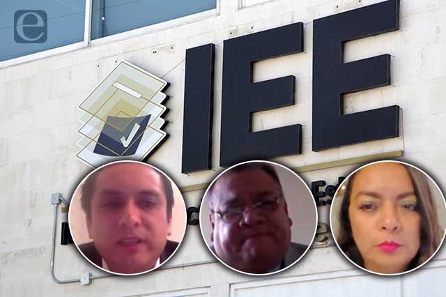 Avalan terna final para ocupar consejerías del IEE por 7 años