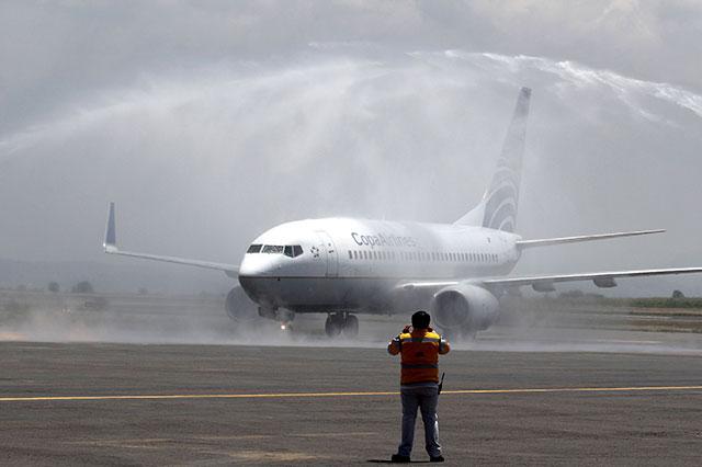 Disminuyen los pasajeros en el vuelo Puebla Panamá