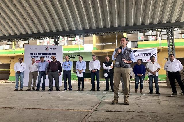 Reconstruirán con 1,900 mdp escuelas dañadas en Puebla