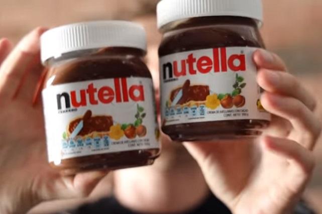 Advierten que Nutella contiene menos de una avellana pero sí mucha azúcar