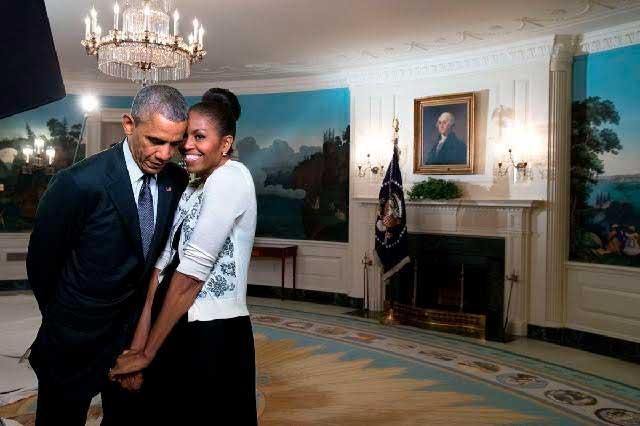 Los tiernos mensajes de Barack y Michelle Obama en San Valentín