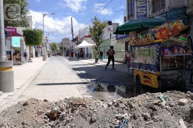 Negocios en Tehuacán blanco de delincuentes por retraso de obra