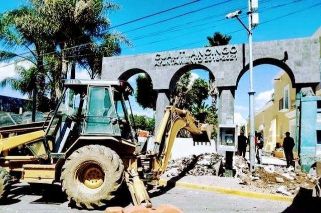 Frena INAH la remodelación del zócalo de Cuautlancingo