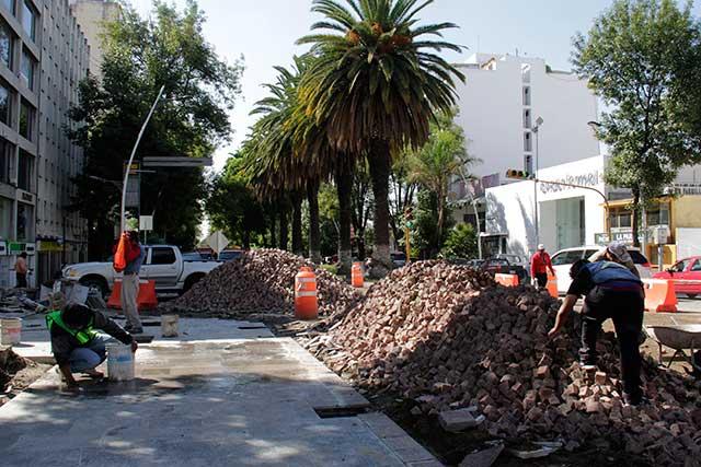 Restauranteros supervisan avances en obras de la Avenida Juárez: Canirac