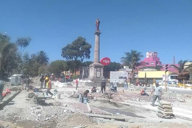 Siguen las obras en la Juárez; primera etapa debía estar lista ya