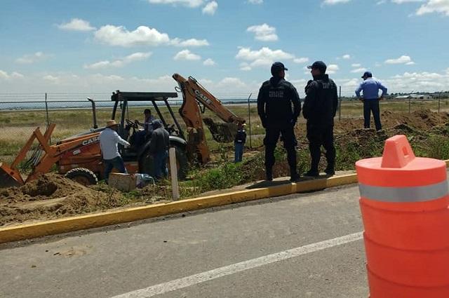 Acusan en Juan C. Bonilla imposición de desagüe industrial de Huejotzingo
