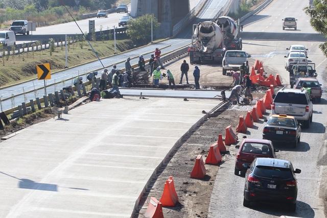 Cerrarán dos carriles del Periférico a la altura del puente de Momoxpan
