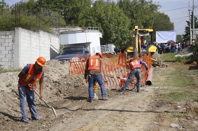 Gobierno de Atlixco cuenta con 75% de rezago en obra pública
