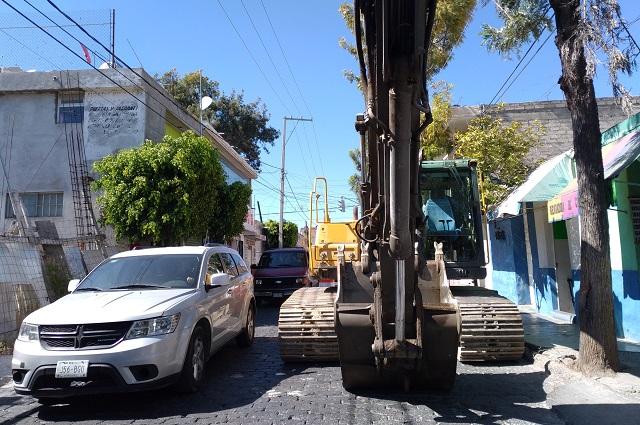 Frenan obra vecinos de La Pedrera en Tehuacán por ventas