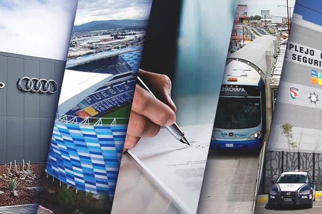¿Cuáles son las 15 obras más caras construidas en Puebla en 8 años?
