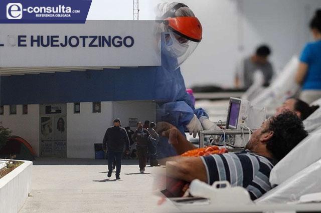 Hospital de Huejotzingo a punto de colmarse con casos Covid