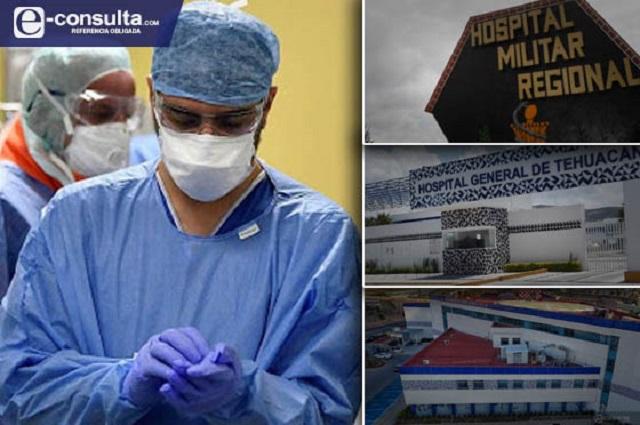 Ocupados a toda su capacidad están 18 hospitales de Puebla