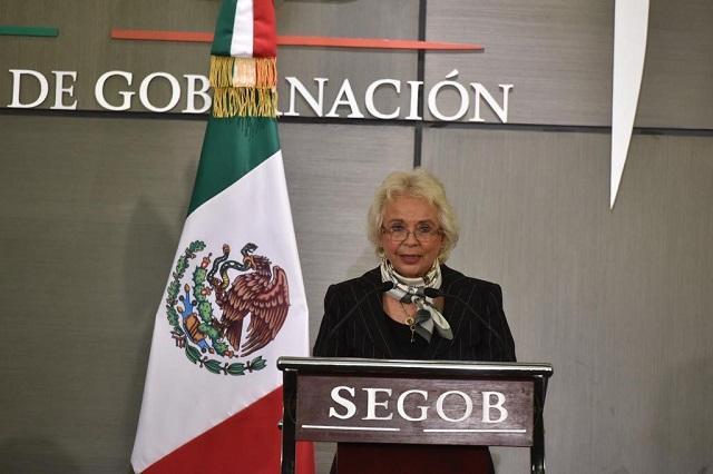 Olga Sánchez Cordero asume la Secretaría de Gobernación