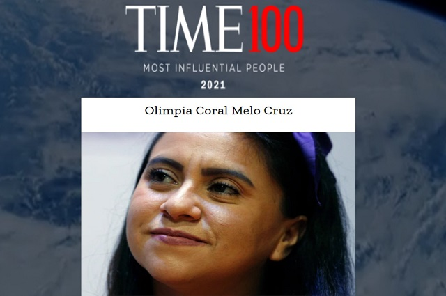Olimpia Coral, de las 100 personas más influyentes del mundo: Time