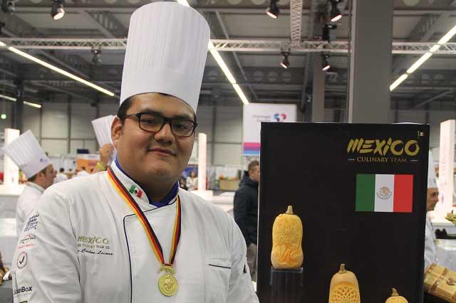 Joven estudiante del ICUM gana Olimpiada Culinaria en Alemania