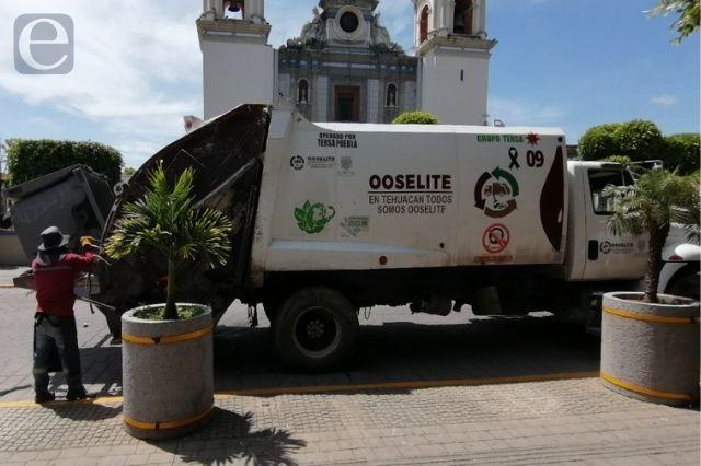 Se restablece el servicio de recolección en Tehuacán
