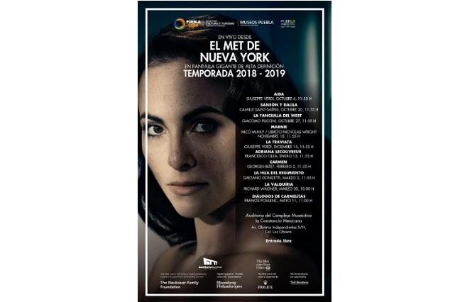Ópera desde el MET de Nueva York en sala de La Constancia Mexicana