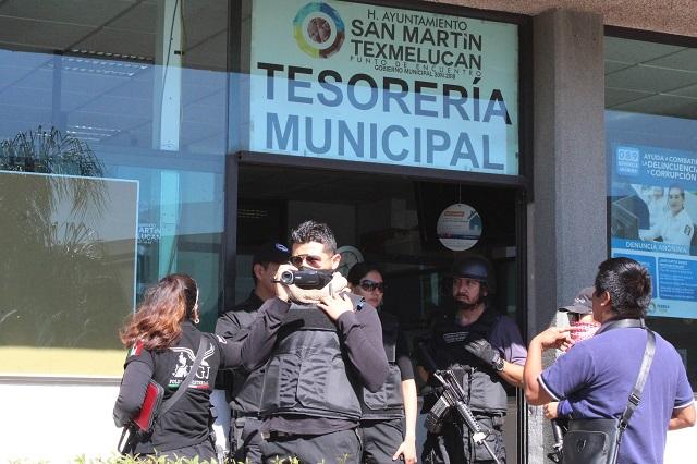 Buscan nexos con crimen en las oficinas del edil de Texmelucan