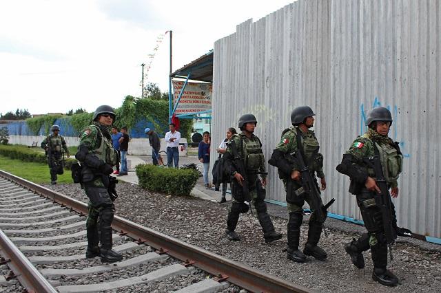 Ejército enfrenta a ladrones de gas en Tepeaca pero huyeron