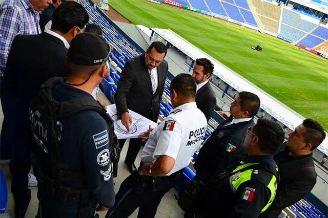 Aplican operativo para partido del Puebla este domingo