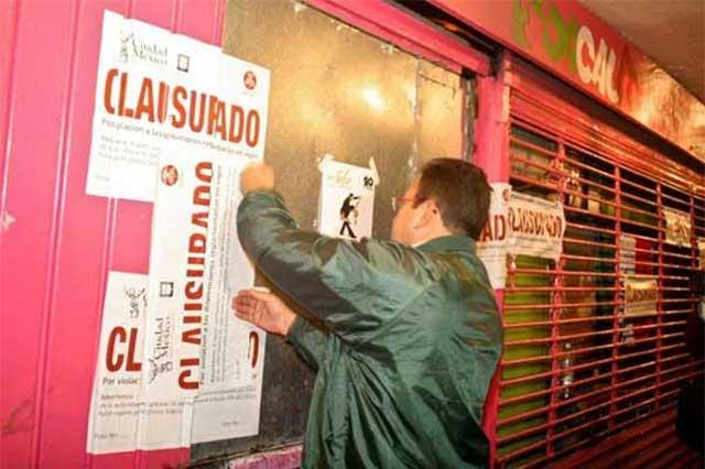 Operativo Mala Copa clausura 9 bares en la Cuauhtémoc