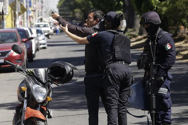 Renuncian policías de Altepexi para no disculparse con narcomenudista