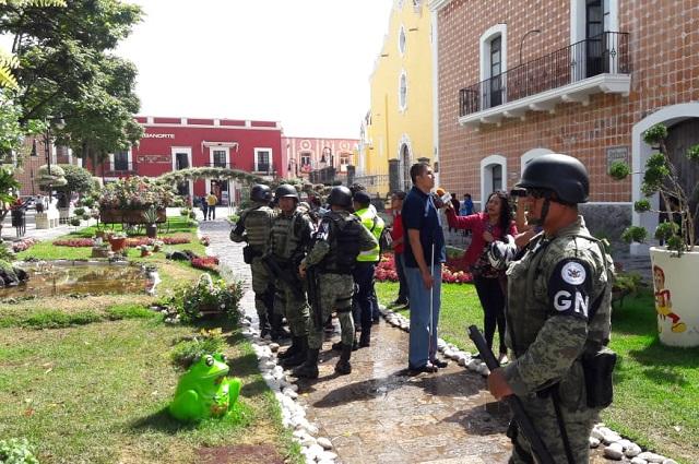 Policía Municipal de Atlixco realiza operativos con la Guardia Nacional