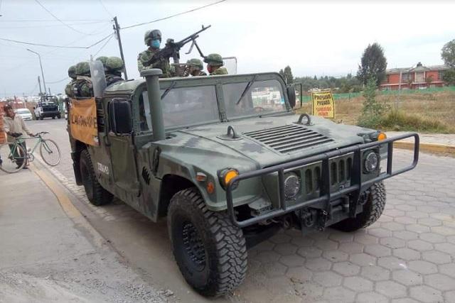 Busca ejército explosivos en San Pedro Cholula