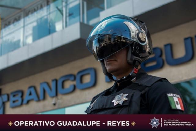 Más de 1,500 elementos de SSC Puebla en Operativo Guadalupe – Reyes