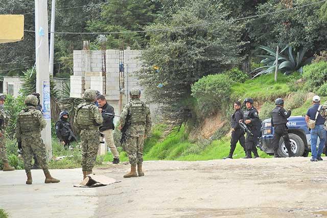 Operativo de Policía Federal y Sedena en territorio de El Bukanas
