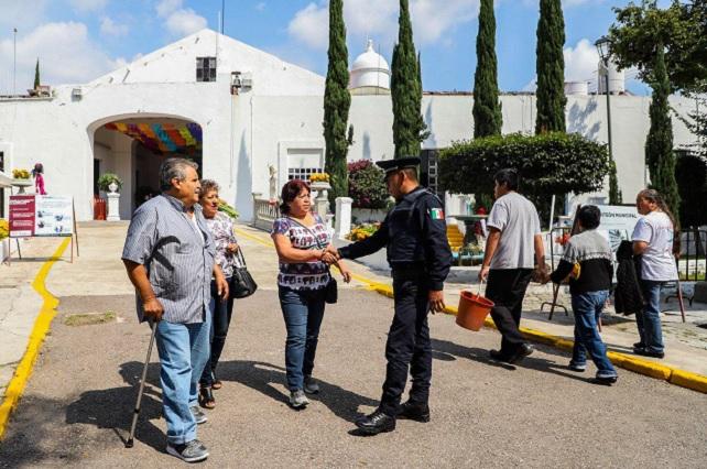 En operativo por Día de Muertos, 1,500 elementos en Puebla capital