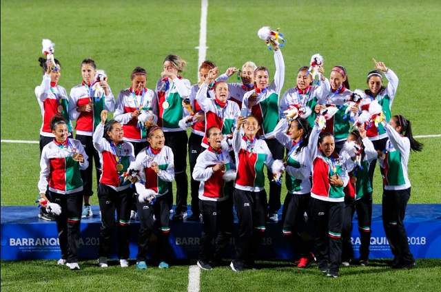 México gana oro en futbol femenil en Barranquilla 2018