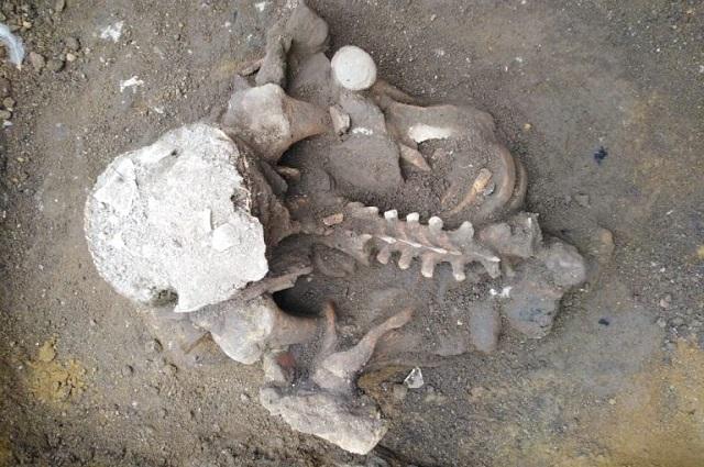 Embodegan restos prehispánicos hallados en  San Andrés Cholula