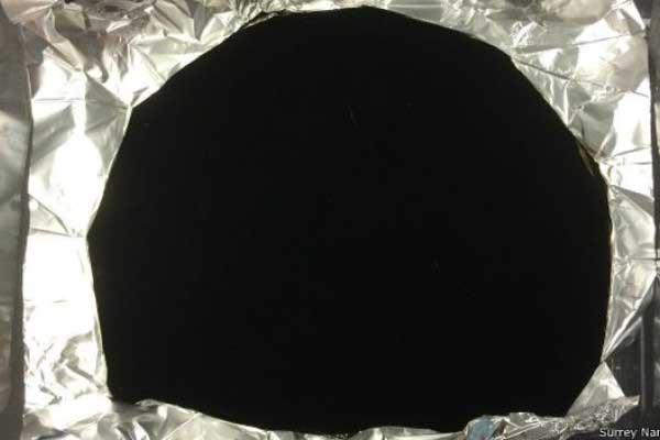 Crean un material tan negro que es capaz de absorber la luz