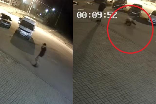 Hombre es atacado por un oso en plena calle