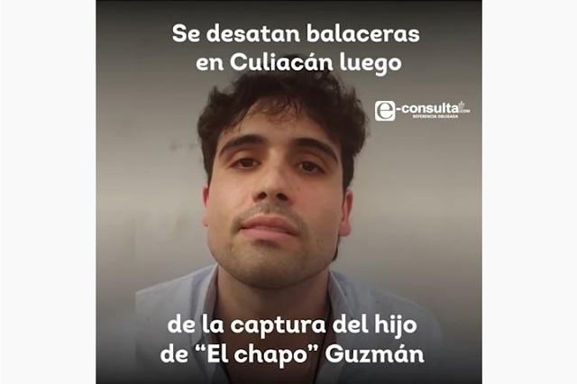 Dejan en libertad a hijo de El Chapo para salvaguardar a la ciudadanía