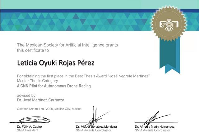 Posgraduada del INAOE gana concurso nacional de tesis de maestría