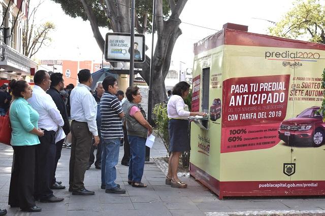 Amplían pago del predial 2020 en Puebla, por contingencia